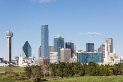 USA, Texas, Dallas, skyline with Reunion Tower - FOF09239
