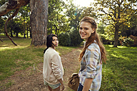 Two young women in nature - SRYF00442