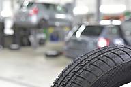 Car tyre in a workshop - LYF00721