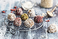 Various Bliss Balls on cooling grid - SARF03331