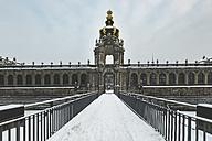 Germany, Dresden, Zwinger palace in winter - ASCF00743