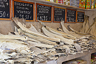 Portugal, Lisbon, Baixa, Display of Bacalhau, Salt Dried Cod - PS00685