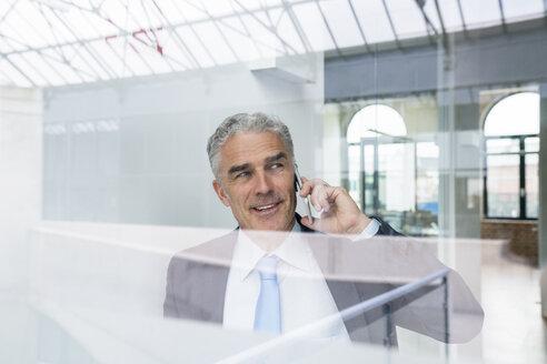 Mature businessman talking on the phone - FMKF04109