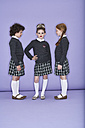 Three girls wearing school uniform - FSF00883