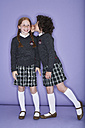 Two girls wearing school uniform - FSF00892