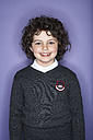 Portrait of smiling girl with ringlets - FSF00895