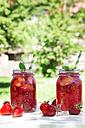 Two glasses of homemade strawberry lemonade - LVF06134