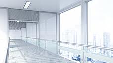 Empty lobby in a modern office building, 3D Rendering - UWF01182