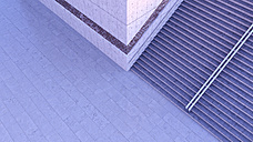 Staircase at twilight seen from above, 3D Rendering - UWF01185