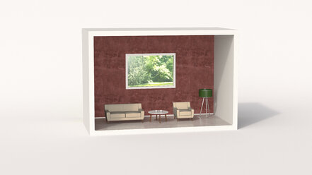 Model of a retro style living room - UWF01209