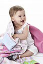 Portrait of laughing baby girl - FSF00916