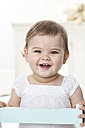 Portrait of relaxed baby girl - FSF00919