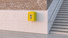 Letter box on concrete wall, 3d rendering - UWF01228