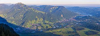 Germany, Bavaria, Allgaeu, view from Gruenten to Illertal - WGF01092