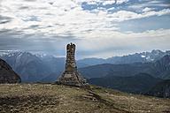 Italy, Alto Adige, Dolomites, War memorial in Tre Cime National Park - STCF00333