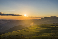 Italy, Marche, Petrano Mountain,  sunset over Apennine Mountains - LOMF00578
