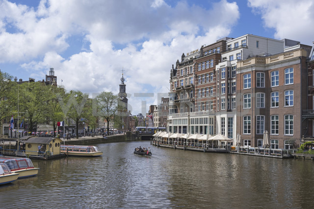 Netherlands, Amsterdam, view over Amstel river to Munttoren - ELF01844