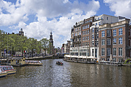 Netherlands, Amsterdam, view over Amstel river to Munttoren - ELF01844