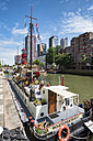 Netherlands, Rotterdam, houseboat to rent at museum harbor - EL01853