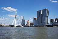 Netherlands, Rotterdam, Meuse river with Pier Wilhelminakade and Erasmusbrug - EL01856