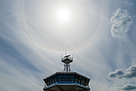 Germany, Travemuende, pilot tower in backlight - FRF00521