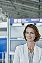 Portrait of confident businesswoman at the airport - RORF00956