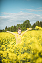 Carefree girl in rape field - MOEF00015
