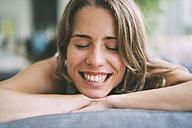 Portrait of happy young woman - KNSF01687