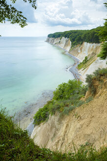 Germany, Ruegen, chalk cliffs in Stubnitz nature reserve - FRF00526