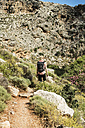 Greece, Crete, Kato Zakros, Gorge of the Dead, woman hiking - CHPF00411