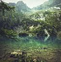 Italy, Lombardy, mountain lake Lago Lagazzuolo near San Guiseppe - DWIF00864
