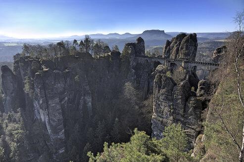 Germany, Saxony, Saxon Switzerland, National Park, Bastei Bridge - ZCF00530