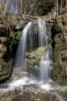 Germany, Lohmen, Elbe Sandstone Mountains, Amsel falls - ZCF00533