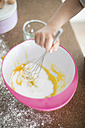 Girl's hand stirring dough - MOEF00032