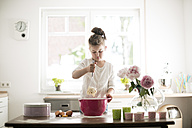 Little girl baking in the kitchen - MOEF00044