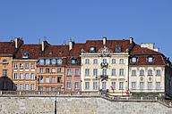 Poland, Warsaw, historic townhouses, apartment buildings along Krakowskie Przedmiescie street - ABOF00209