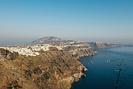 Greece, Santorini, the white village of Fira on the caldera side - GEMF01731