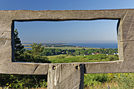 Germany, Mecklenburg-Western Pomerania, View of Hiddensee through wooden frame - GFF01006