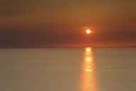 Germany, Mecklenburg-Western Pomerania, Hiddensee, sunset over the Baltic Sea - GFF01009