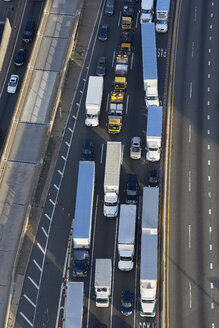 USA, New York City, traffic on highway, aerial view - BCDF00287