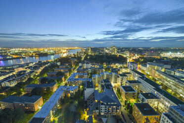 Germany, Hamburg, cityscape in the evening - RJF00705