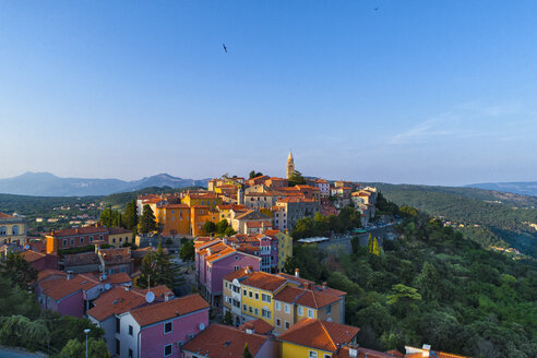 Croatia, Istria, view to Labin from above - MAEF12370