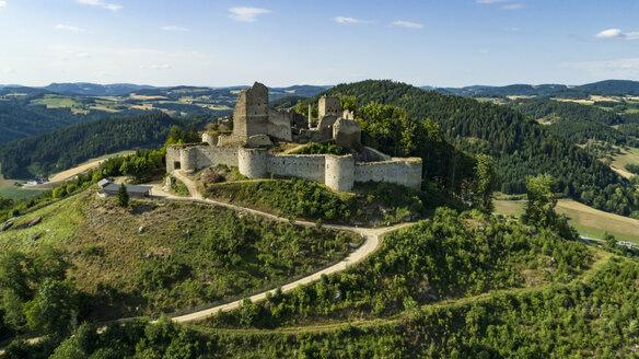 Austria, Muehlviertel, view to Ruttenstein Castle Ruin - AI00440