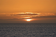 Spain, scenic sunset at the sea - DHCF00097