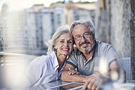 Senior couple enjoying their a city break - ZEF14158