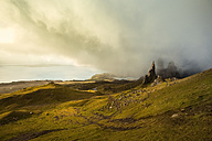UK, Scotland, Isle of Skye, The Storr at cloudy day - FCF01231