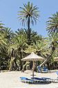 Greece, Crete, Vai, sun loungers on the beach - CHPF00413