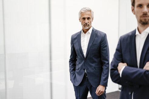 Portrait of two businessmen in office - KNSF02195