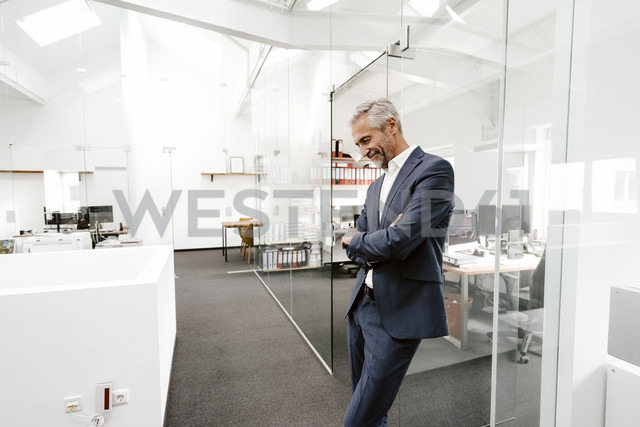 Smiling mature businessman in office - KNSF02222 - Kniel Synnatzschke/Westend61