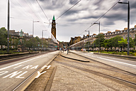 UK, Scotland, Edinburgh, tram lanes, long exposure - SMAF00788